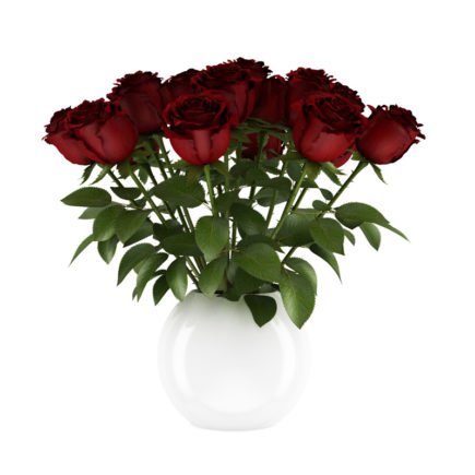 3d red roses