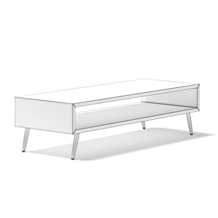 3d Rectangular Wooden Coffee Table