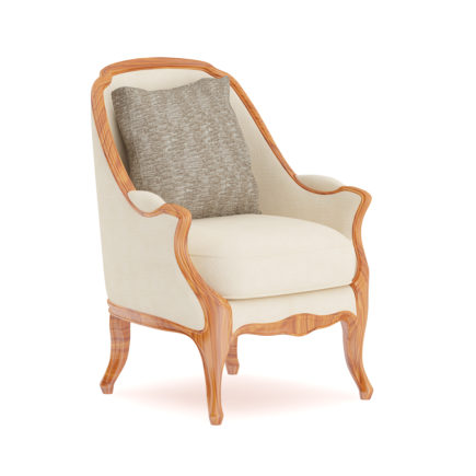 3D Classical Armchair with Pillow