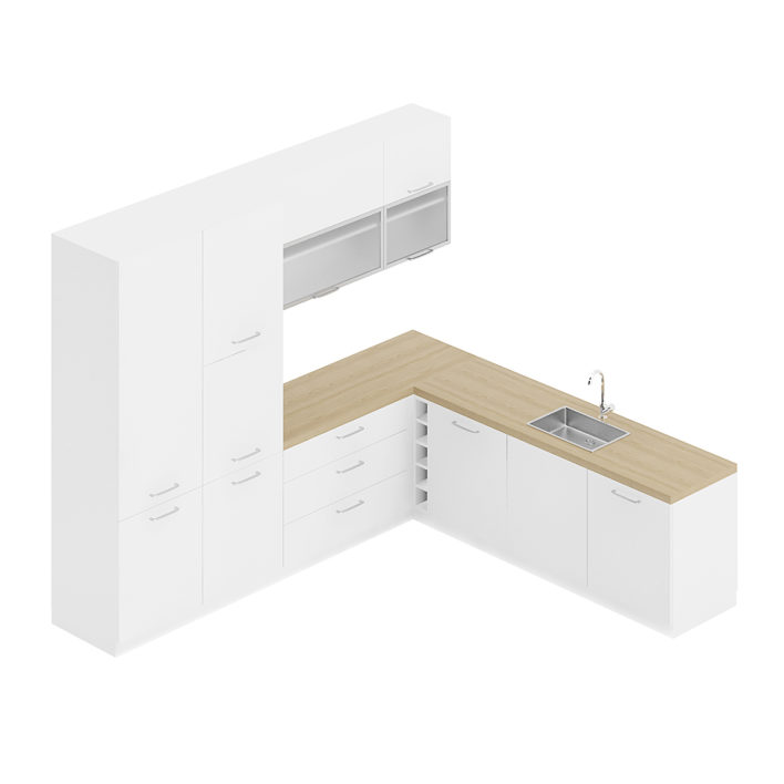 3d kitchen furniture set
