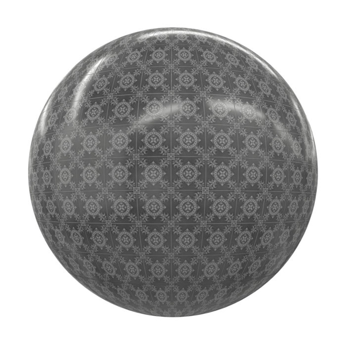 Patterned Tiles Free PBR Texture