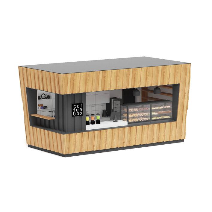 coffee kiosk free 3d model