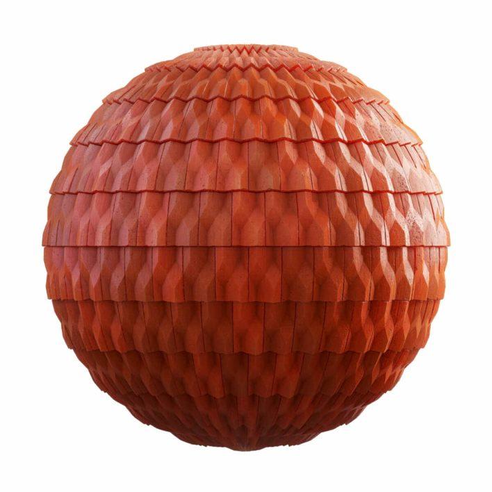 orange ceramic roof free pbr texture